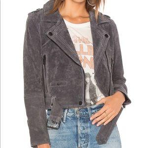 Blank NYC Grey Suede Moro Jacket